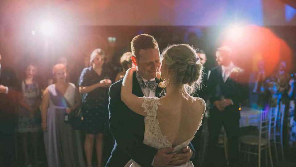 South Wales wedding photographer First dance at Coed y mwstwr