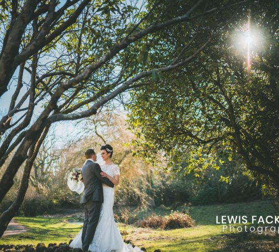 Bryngarw house wedding photography of couple married on walk in park