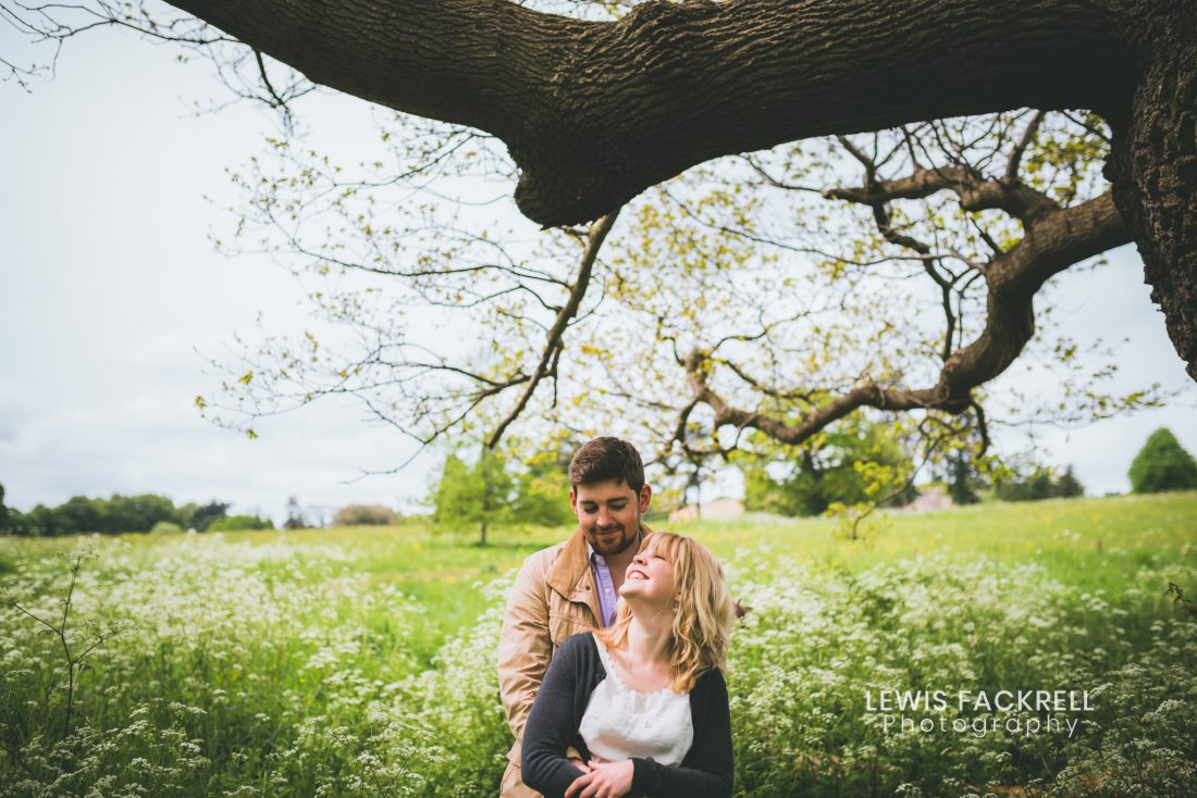 Ashton Court Bristol wedding photography photo session of couple in meadow