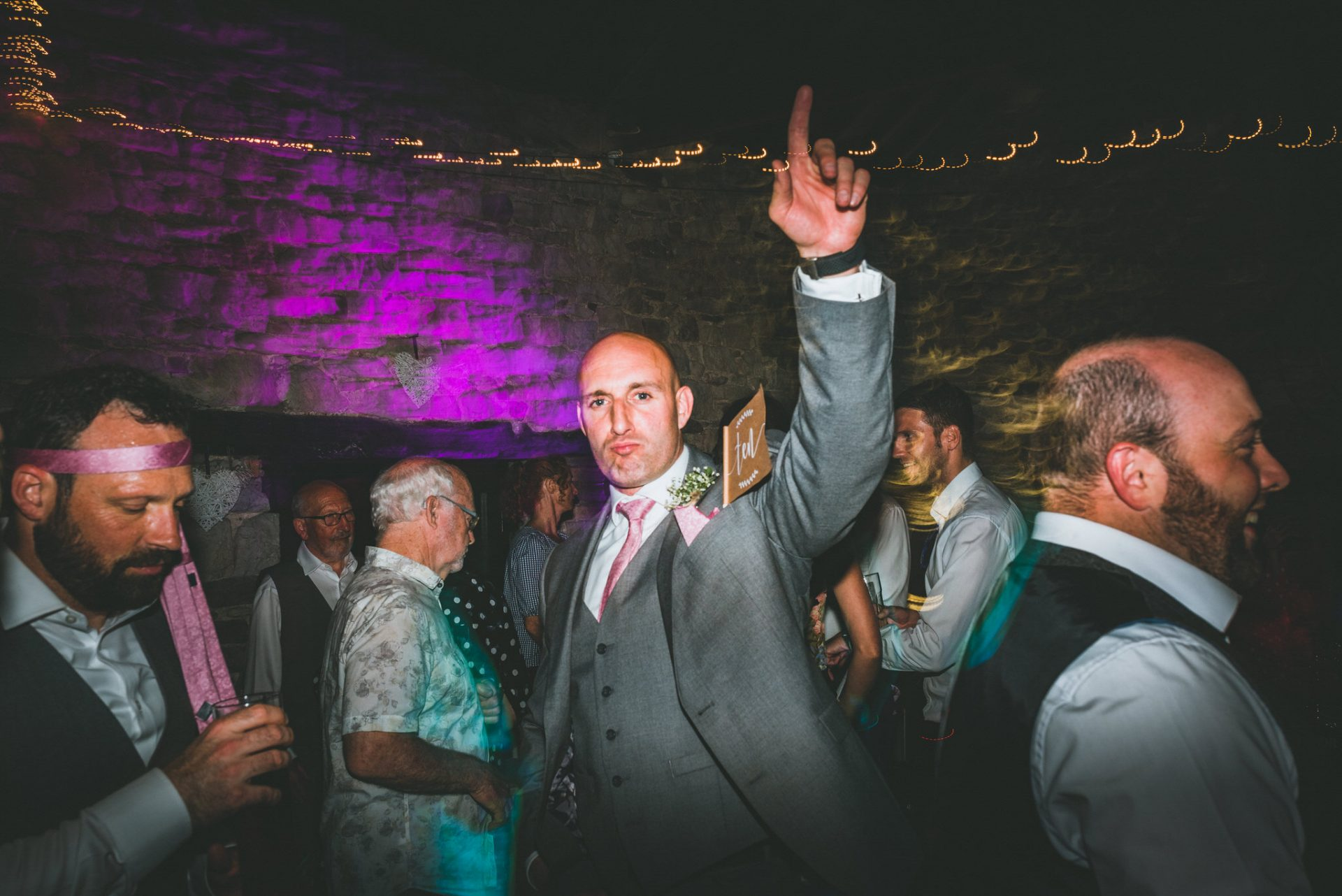 natural and relaxed Wedding photographer in South Wales, dance floor party