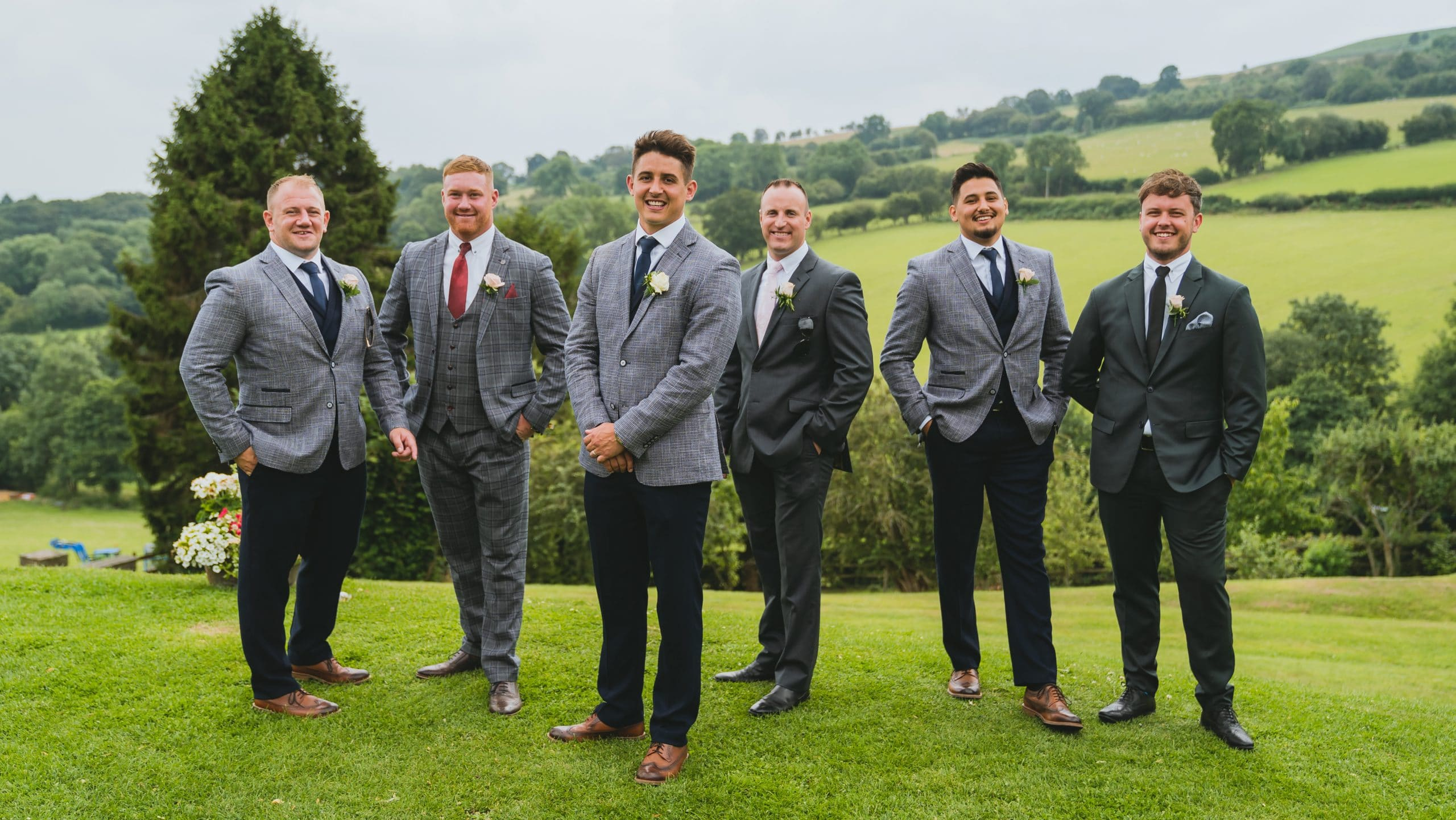Formal group photos at Sugarloaf barn in Abergavenny