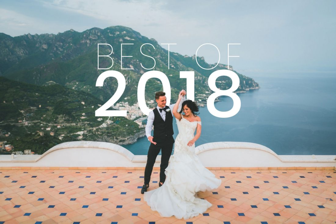 Best wedding photography in south wales with couple dancing on roof in ravello, italy