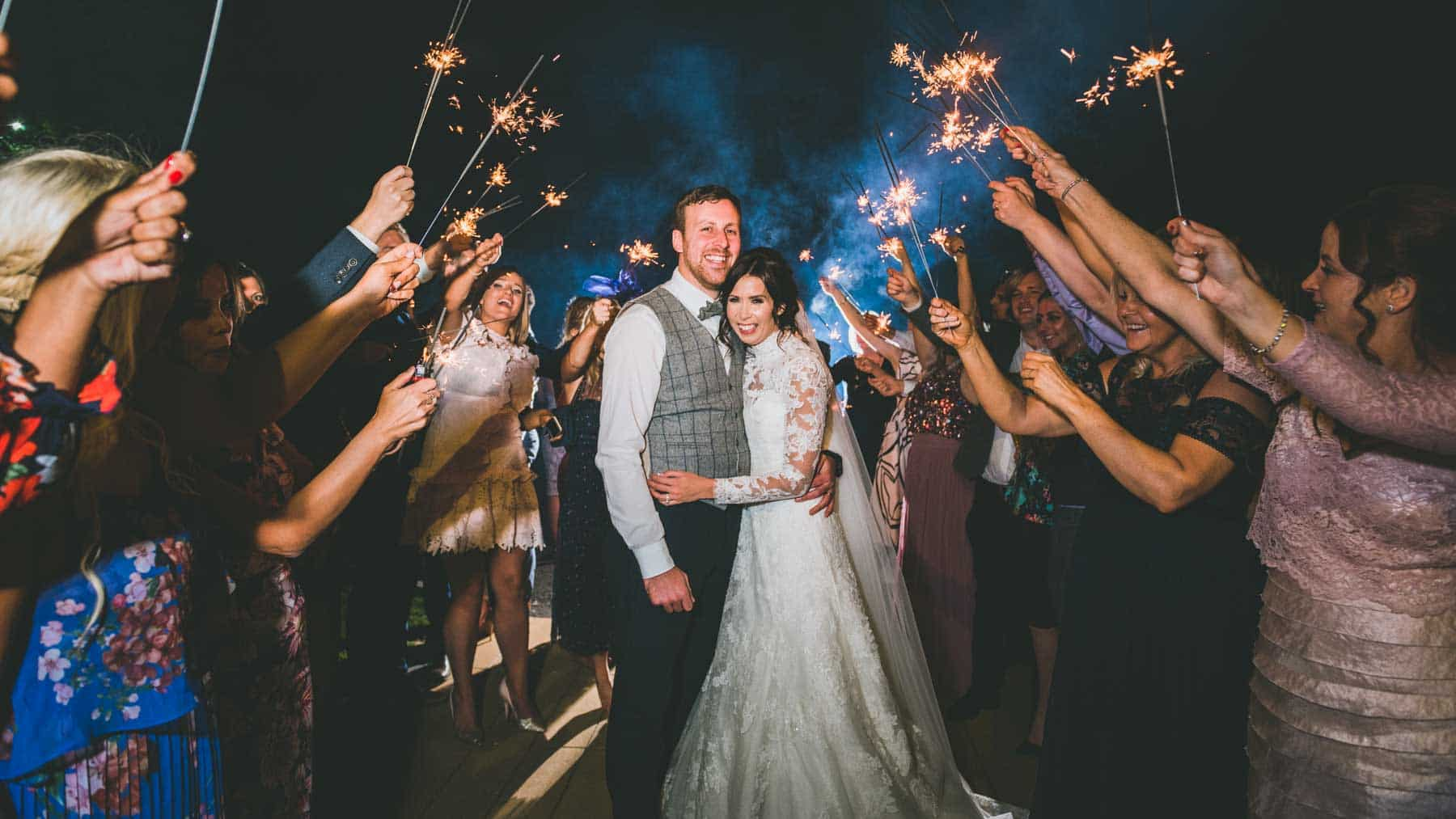 Cardiff-wedding-photographers-videographers-south-wales-couple-at-decourceys-with-sparklers