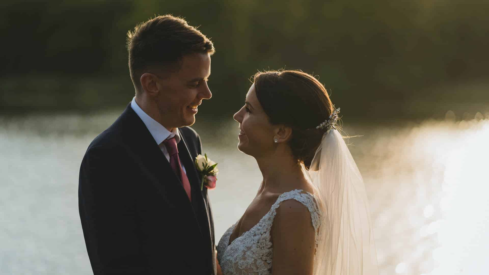 Bride and groom during their Hensol castle wedding photography