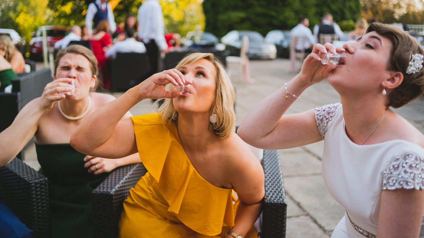 shots at wedding celebrations