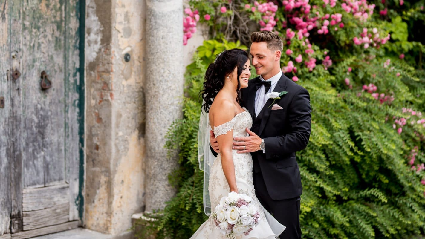 Destination wedding photography in Ravello, Italy of bride and groom